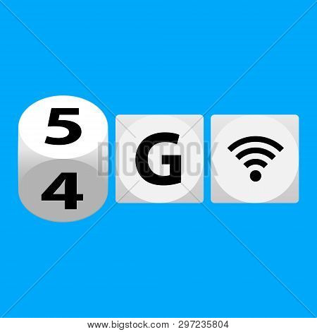 5g - 5th Generation Wireless Internet Network Connection Information Technology Illustration. Mobile