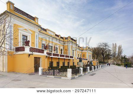 Feodosia, Crimea, Russia - March 08, 2019: Ivan Konstantinovich Aivazovsky Feodosia Art Gallery - Mu