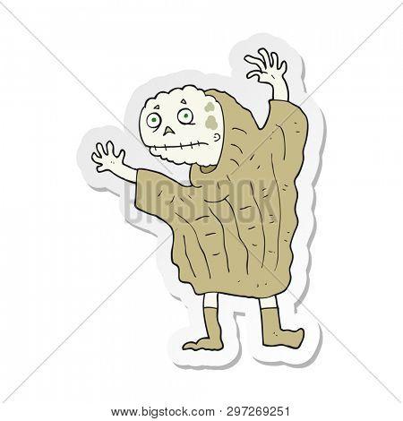 sticker of a cartoon halloween ghoul