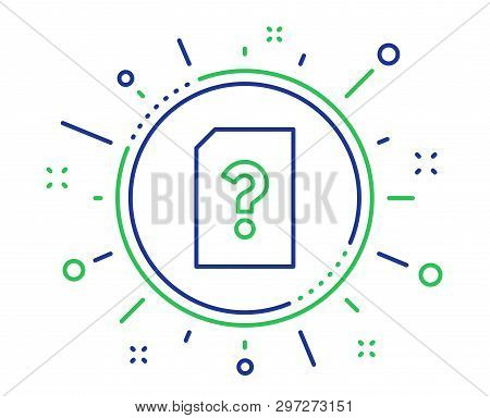 Unknown Document Line Icon. File With Question Mark Sign. Untitled Paper Page Concept Symbol. Qualit