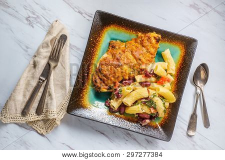 Red Pesto Hasselback Chicken