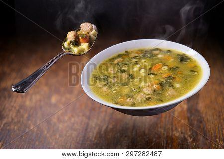 Floating Italian Wedding Soup