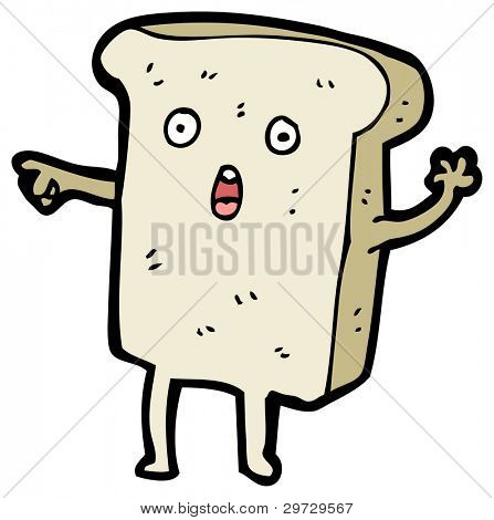 poster of (raster version) cartoon slice of bread character pointing