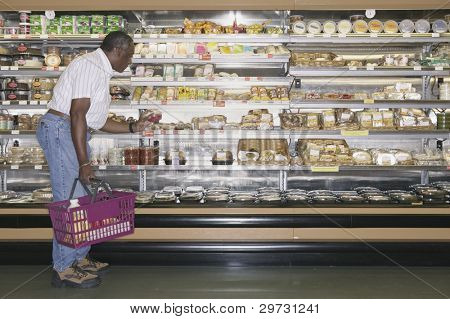 Man doing grocery shopping