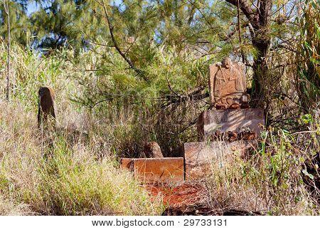 Abandoned Chinese Graveyard In Kauai