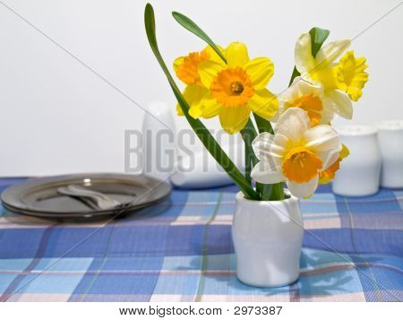 Narcissus And Crockery