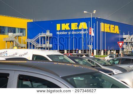 Bucharest, Romania - April 16, 2019: Ikea Pallady, The Second Store Of The Swedish Furniture Company