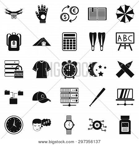 Evening Classes Icons Set. Simple Set Of 25 Evening Classes Icons For Web Isolated On White Backgrou