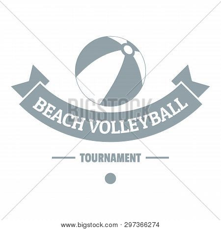 Beach Volleyball Logo. Simple Illustration Of Beach Volleyball Logo For Web
