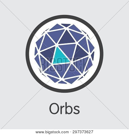 Orbs - Orbs. The Logo Of Cryptocurrency Or Market Emblem.