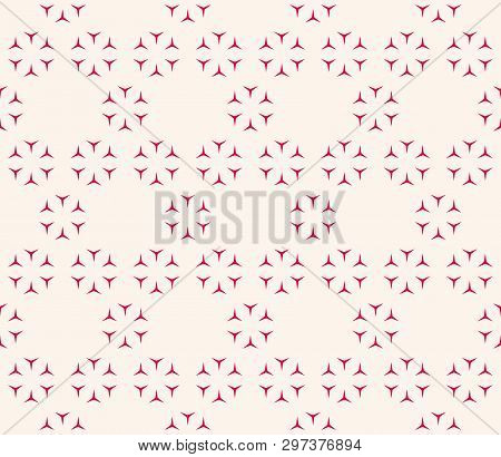 Red And White Festive Seamless Pattern. Vector Abstract Geometric Texture With Small Triangular Shap