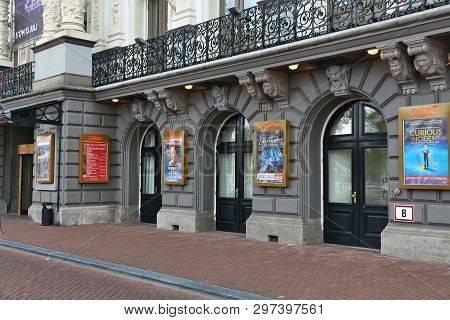 Amsterdam, Netherlands - July 10, 2017: Royal Theatre Carre In Amsterdam, Netherlands. The Theatre W