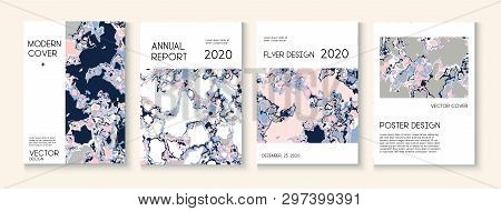 Geographic Map Fluid Paint Vector Cover. Scientific Journal, Futuristic Folder Template. Funky Earth