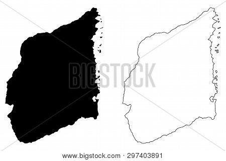 Cabo Delgado Province (provinces Of Mozambique, Republic Of Mozambique) Map Vector Illustration, Scr