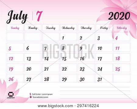 July 2020 Year Vector & Photo (Free Trial) | Bigstock