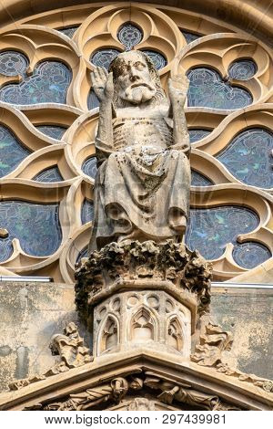 An image of a detail of Saint Theobald's Church, Thann