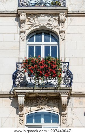 An image of a balcony in Belfort, France