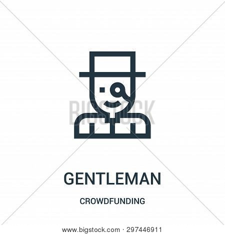 Gentleman Icon Isolated On White Background From Crowdfunding Collection. Gentleman Icon Trendy And