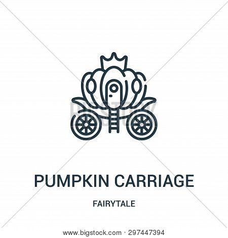 Pumpkin Carriage Icon Isolated On White Background From Fairytale Collection. Pumpkin Carriage Icon