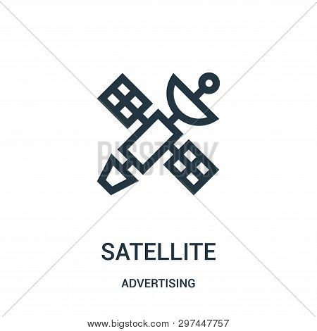 Satellite Icon Isolated On White Background From Advertising Collection. Satellite Icon Trendy And M