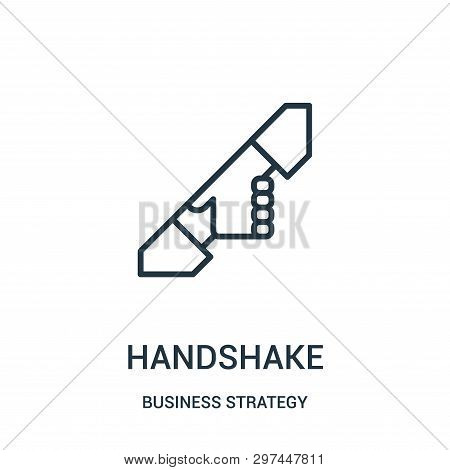 Handshake Icon Isolated On White Background From Business Strategy Collection. Handshake Icon Trendy