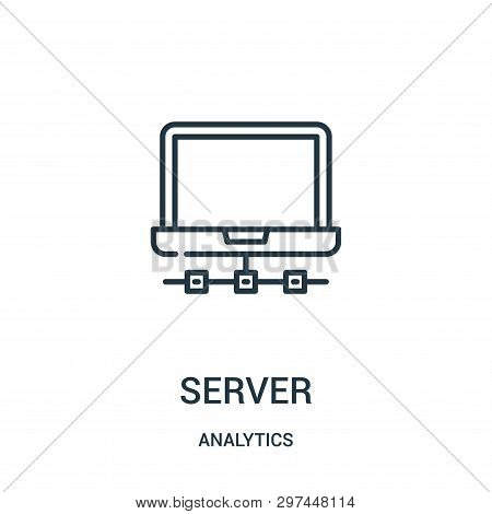 Server Icon Isolated On White Background From Analytics Collection. Server Icon Trendy And Modern Se