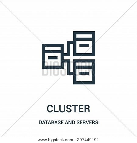 Cluster Icon Isolated On White Background From Database And Servers Collection. Cluster Icon Trendy