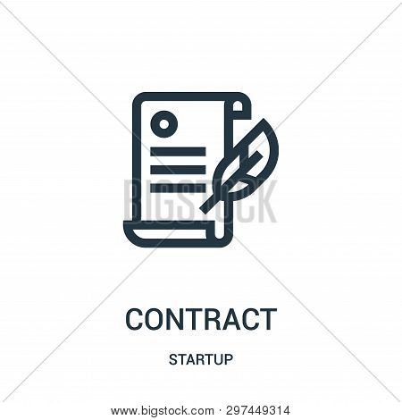 Contract Icon Isolated On White Background From Startup Collection. Contract Icon Trendy And Modern