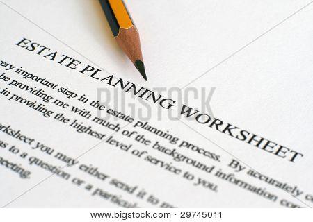 Estate Plan Sheet