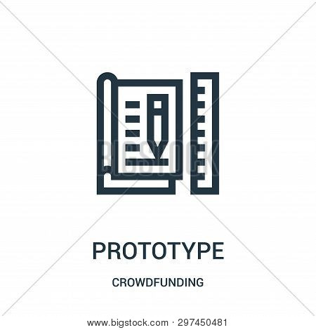 Prototype Icon Isolated On White Background From Crowdfunding Collection. Prototype Icon Trendy And