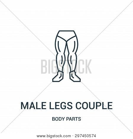 Male Legs Couple Icon Isolated On White Background From Body Parts Collection. Male Legs Couple Icon