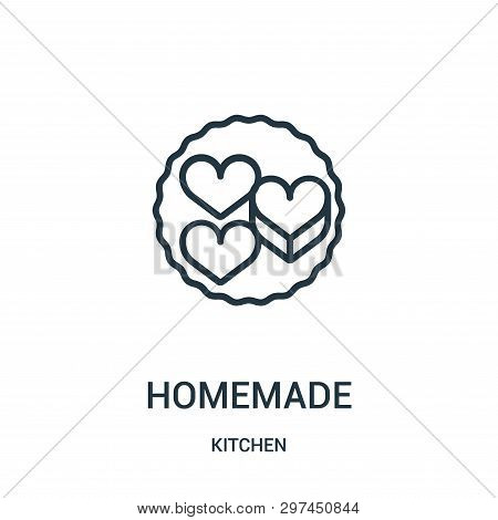 Homemade Icon Isolated On White Background From Kitchen Collection. Homemade Icon Trendy And Modern