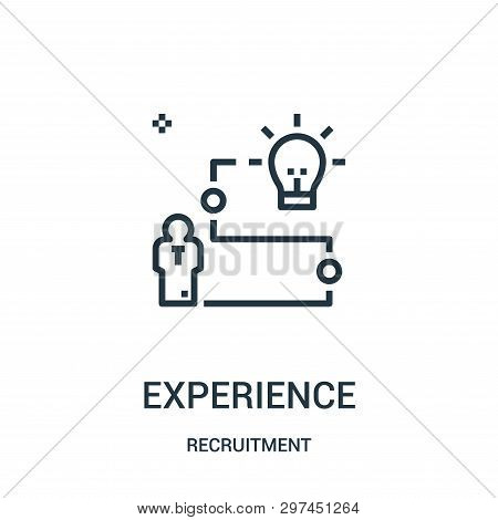 Experience Icon Isolated On White Background From Recruitment Collection. Experience Icon Trendy And