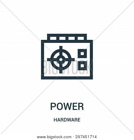 Power Icon Isolated On White Background From Hardware Collection. Power Icon Trendy And Modern Power