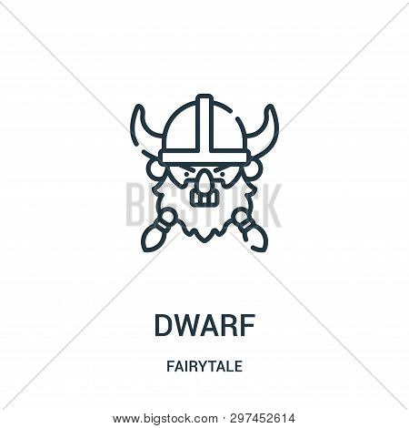 Dwarf Icon Isolated On White Background From Fairytale Collection. Dwarf Icon Trendy And Modern Dwar