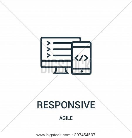 Responsive Icon Isolated On White Background From Agile Collection. Responsive Icon Trendy And Moder