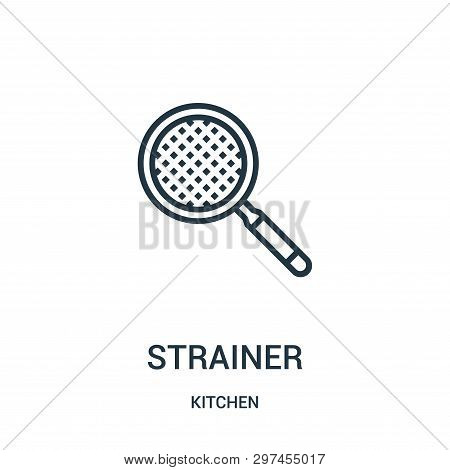 Strainer Icon Isolated On White Background From Kitchen Collection. Strainer Icon Trendy And Modern
