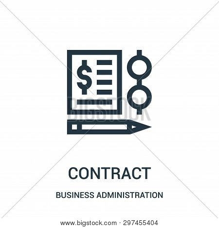 Contract Icon Isolated On White Background From Business Administration Collection. Contract Icon Tr