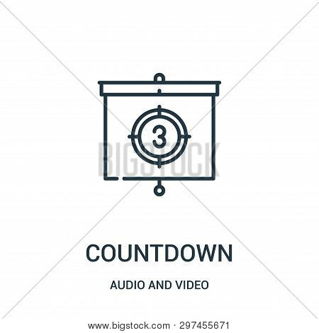 Countdown Icon Isolated On White Background From Audio And Video Collection. Countdown Icon Trendy A