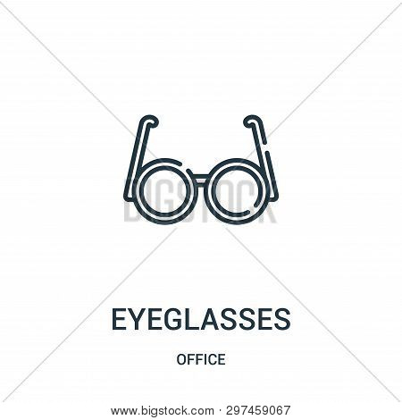 Eyeglasses Icon Isolated On White Background From Office Collection. Eyeglasses Icon Trendy And Mode