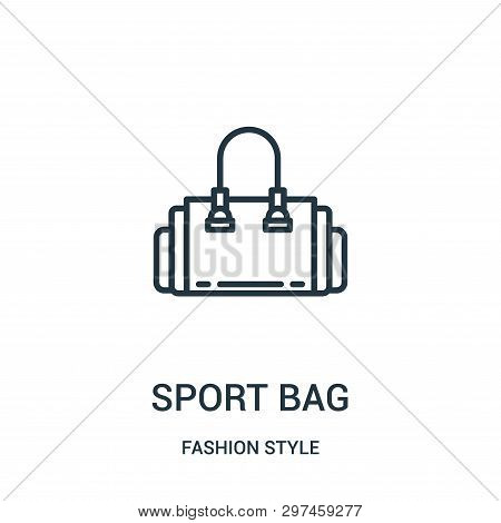 Sport Bag Icon Isolated On White Background From Fashion Style Collection. Sport Bag Icon Trendy And