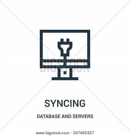 Syncing Icon Isolated On White Background From Database And Servers Collection. Syncing Icon Trendy