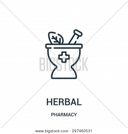 Herbal Icon Isolated On White Background From Pharmacy Collection. Herbal Icon Trendy And Modern Her