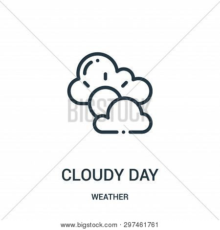 Cloudy Day Icon Isolated On White Background From Weather Collection. Cloudy Day Icon Trendy And Mod