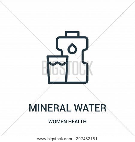 Mineral Water Icon Isolated On White Background From Women Health Collection. Mineral Water Icon Tre