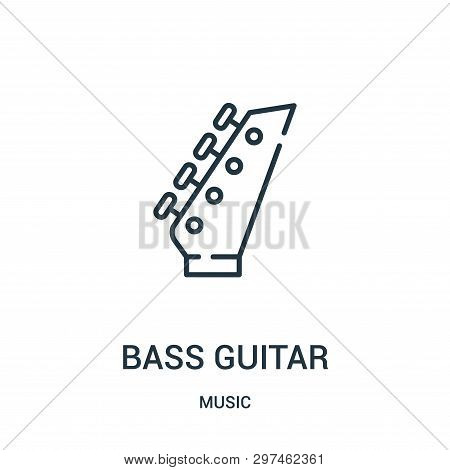 Bass Guitar Icon Isolated On White Background From Music Collection. Bass Guitar Icon Trendy And Mod