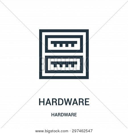 Hardware Icon Isolated On White Background From Hardware Collection. Hardware Icon Trendy And Modern