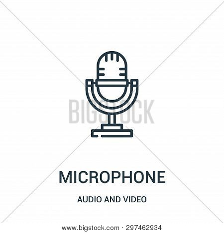 Microphone Icon Isolated On White Background From Audio And Video Collection. Microphone Icon Trendy