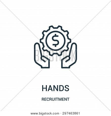 Hands Icon Isolated On White Background From Recruitment Collection. Hands Icon Trendy And Modern Ha
