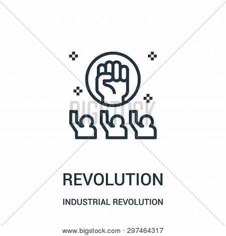 Revolution Icon Isolated On White Background From Industrial Revolution Collection. Revolution Icon